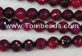 CAG4503 15.5 inches 8mm faceted round fire crackle agate beads
