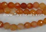 CAG4509 15.5 inches 8mm faceted round agate beads wholesale