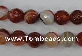 CAG4534 15.5 inches 10mm faceted round agate beads wholesale