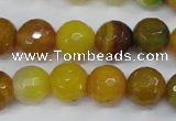 CAG4550 15.5 inches 12mm faceted round agate beads wholesale