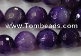 CAG4567 15.5 inches 14mm faceted round agate beads wholesale