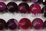 CAG4585 15.5 inches 16mm faceted round agate beads wholesale
