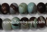 CAG4592 15.5 inches 10*14mm rondelle agate beads wholesale