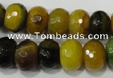 CAG4596 15.5 inches 10*14mm faceted rondelle agate beads wholesale