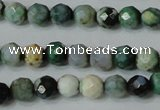 CAG4604 15.5 inches 4mm faceted round fire crackle agate beads