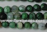 CAG4605 15.5 inches 4mm faceted round fire crackle agate beads