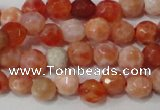CAG4607 15.5 inches 4mm faceted round fire crackle agate beads