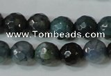 CAG4610 15.5 inches 6mm faceted round fire crackle agate beads