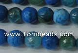 CAG4621 15.5 inches 6mm faceted round fire crackle agate beads