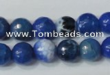 CAG4622 15.5 inches 6mm faceted round fire crackle agate beads