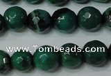 CAG4624 15.5 inches 6mm faceted round fire crackle agate beads