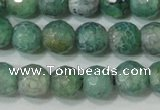 CAG4626 15.5 inches 6mm faceted round fire crackle agate beads