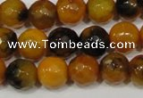 CAG4630 15.5 inches 6mm faceted round fire crackle agate beads