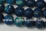 CAG4631 15.5 inches 6mm faceted round fire crackle agate beads