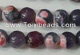 CAG4635 15.5 inches 6mm faceted round fire crackle agate beads