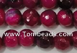 CAG4637 15.5 inches 6mm faceted round fire crackle agate beads