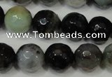 CAG4645 15.5 inches 8mm faceted round fire crackle agate beads