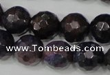 CAG4646 15.5 inches 8mm faceted round fire crackle agate beads