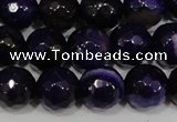 CAG4656 15.5 inches 8mm faceted round fire crackle agate beads