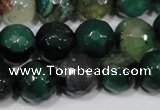 CAG4657 15.5 inches 8mm faceted round fire crackle agate beads