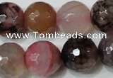 CAG4665 15.5 inches 10mm faceted round fire crackle agate beads
