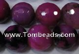 CAG4667 15.5 inches 10mm faceted round fire crackle agate beads