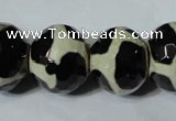 CAG4687 15 inches 15*18mm faceted rondelle tibetan agate beads wholesale