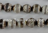 CAG4724 15 inches 10mm faceted round tibetan agate beads wholesale
