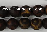 CAG4762 15 inches 14mm round tibetan agate beads wholesale