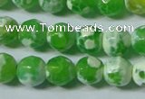 CAG4790 15.5 inches 6mm faceted round fire crackle agate beads