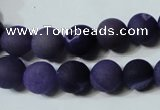 CAG4796 15.5 inches 10mm round matte druzy agate beads wholesale