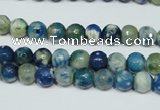 CAG4805 15 inches 6mm faceted round fire crackle agate beads