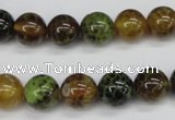 CAG4833 15 inches 10mm round dragon veins agate beads wholesale