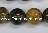 CAG4837 15 inches 18mm round dragon veins agate beads wholesale