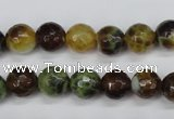 CAG4843 15 inches 10mm faceted round dragon veins agate beads