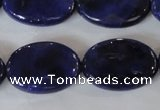 CAG4898 15 inches 18*25mm faceted oval fire crackle agate beads