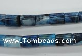 CAG4931 15.5 inches 8*10mm tube dyed Brazilian agate beads