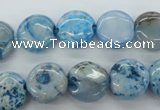 CAG4934 15.5 inches 12mm flat round dyed Brazilian agate beads