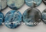 CAG4936 15.5 inches 20mm flat round dyed Brazilian agate beads