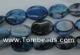 CAG4940 15.5 inches 10*14mm oval dyed Brazilian agate beads