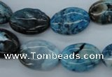CAG4943 15.5 inches 13*18mm oval dyed Brazilian agate beads