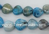 CAG4954 15.5 inches 12*12mm heart dyed Brazilian agate beads