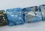 CAG4959 15.5 inches 20*20mm square dyed Brazilian agate beads