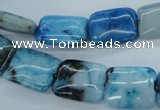 CAG4962 15.5 inches 13*18mm rectangle dyed Brazilian agate beads
