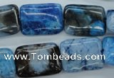 CAG4963 15.5 inches 15*20mm rectangle dyed Brazilian agate beads