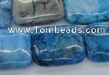 CAG4964 15.5 inches 18*25mm rectangle dyed Brazilian agate beads