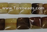 CAG4974 15.5 inches 14*14mm square agate gemstone beads wholesale
