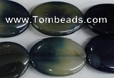 CAG5010 15.5 inches 18*25mm oval agate gemstone beads wholesale