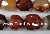 CAG5029 15.5 inches 18*20mm faceted nuggets agate gemstone beads