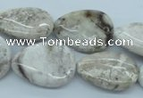 CAG5040 15.5 inches 18*25mm flat teardrop natural Brazilian agate beads
